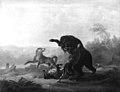 Christian David Gebauer - Kamp mellem en bjørn og nogle ulve - KMS47 - Statens Museum for Kunst.jpg