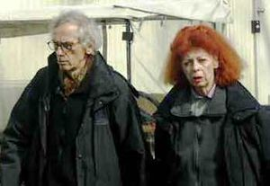 Christo and Jeanne-Claude.