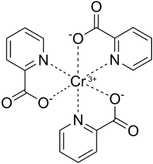 Chemical structure of chromium picolinate crea...