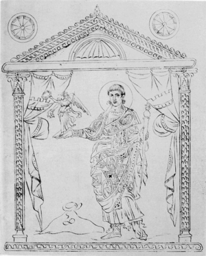 Asterius of Amasea - The Caesar Constantius Gallus in a later copy of the Chronography of 354, with one of the best surviving indications of what the pictures on clothes described by Asterius looked like.