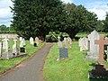 Churchyard, church of St. Peter and St. Illtyd, Llanhamlach - geograph.org.uk - 1385618.jpg