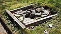 City of London Cemetery collapsed grave slab ledger stone 2.jpg
