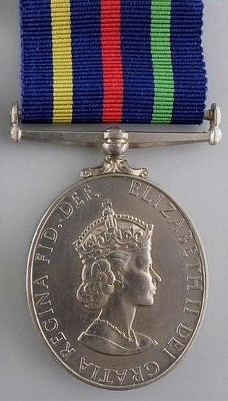 Civil Defence Medal - Image: Civil Defence Long Service Medal, obverse