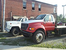 Class 6 2002 Ford F-650 in front. 1989 Ford F-600 in back.F-650 GVWR:26,000. F-600 GVWR:20,200