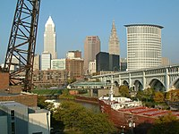 Downtown Cleveland Skyline, taken from the Superior Viaduct