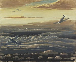 1943 in art - Image: Clouds and Spitfires (1943) (Art. IWM ART LD 3767)