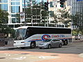 Coach USA bus in downtown Pittsburgh 01.JPG