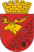 Голова лося на гербе г. Гусева Калининградской области