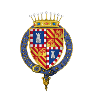 Iñigo I d'Avalos - Arms as Knight of the Garter