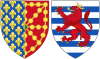 Coat of Arms of Marie of Luxembourg as Queen Consort of Navarre.svg