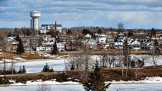Cochrane, Ontario - Cochrane as seen across Lake Commando