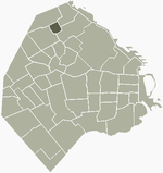Location of Coghlan within Buenos Aires