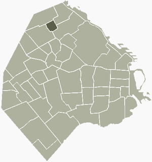 Coghlan, Buenos Aires - Image: Coghlan Buenos Aires map
