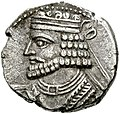 Coin of Vologases I (cropped), Seleucia mint.jpg