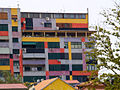 Colourful appartment building in Tirana.jpg