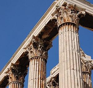 Temple of Olympian Zeus, Athens - Corinthian columns detail