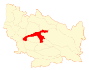 Location of the Chillán commune in the Biobío Region