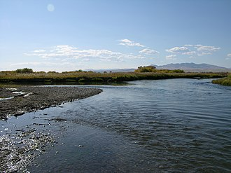 Beaverhead River - The confluence of the Beaverhead and the Ruby River, its major tributary