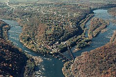 Confluence of the Potomac and Shenandoah at Harpers Ferry - aer photo by NPS.jpg