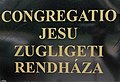 Congregatio Jesu monastery, name sign, 2018 Virányos.jpg