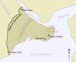 Η Κωνσταντινούπολη και τα τείχη του Θεοδόσιου