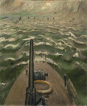 Raymond Coxon - Convoy (1942) (Art.IWM ART LD 2161)