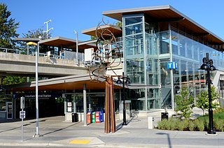 Coquitlam Central station Metro Vancouver public transportation station