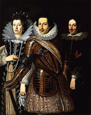Grand Duchy of Tuscany - Maria Maddalena, Cosimo II and Ferdinando II, painting after Justus Sustermans