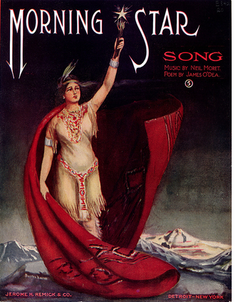 "Charles N. Daniels (music) - Cover of ""Morning Star"" sheet music by Neil Moret (alias of Charles N. Daniels)"
