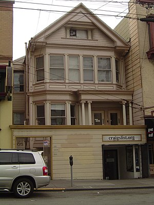 Craigslist - Craigslist headquarters in the Inner Sunset District of San Francisco prior to 2010