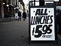 Credit crunch lunch, Belfast - geograph.org.uk - 1556693.jpg