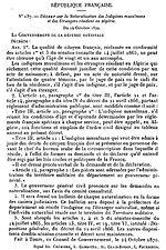Décret N°137, la Naturalisation des Indigènes musulmans et des Étrangers résidant en Algérie.