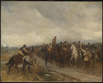 Commonwealth of England - Andrew Carrick Gow painting depicting the Third English Civil War (1886)