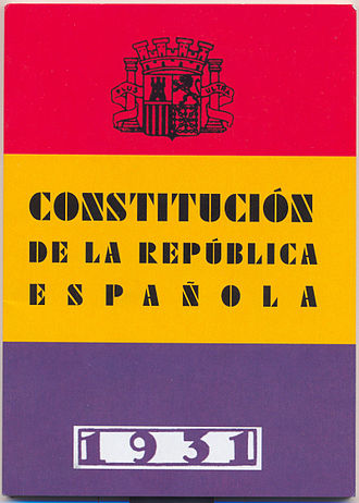 Spanish Constitution of 1931 - Copy of the Constitution of 1931
