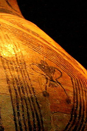 Religion and ritual of the Cucuteni–Trypillia culture - Goddess design on ceramic pot