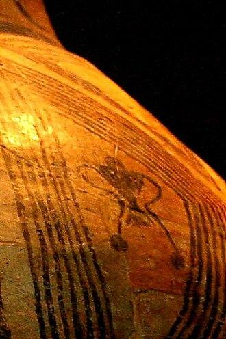 Religion and ritual of the Cucuteni–Trypillia culture - Goddess design on ceramic pot