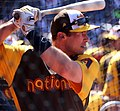 D-backs first baseman Paul Goldschmidt takes batting practice on Gatorade All-Star Workout Day. (28042717673).jpg