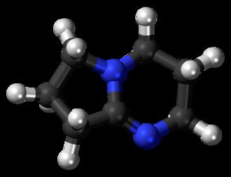 1,5-Diazabicyclo(4.3.0)non-5-ene - Image: DBN 3D balls