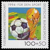 DBP 1994 1718 Sporthilfe Fußball FIFA-WM-Pokal.jpg
