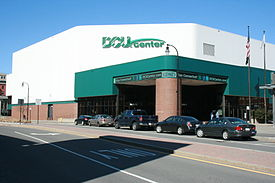 Exterior of DCU Center, 2012