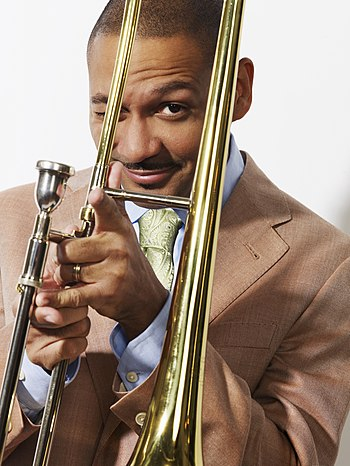 English: trombonist, composer, producer, educa...