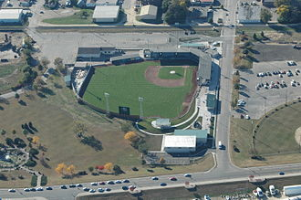 Clinton LumberKings - Ashford Field. Formerly Alliant Energy Field and Riverview Stadium