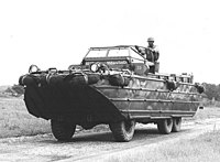A DUKW (commonly DUCK), during World War II