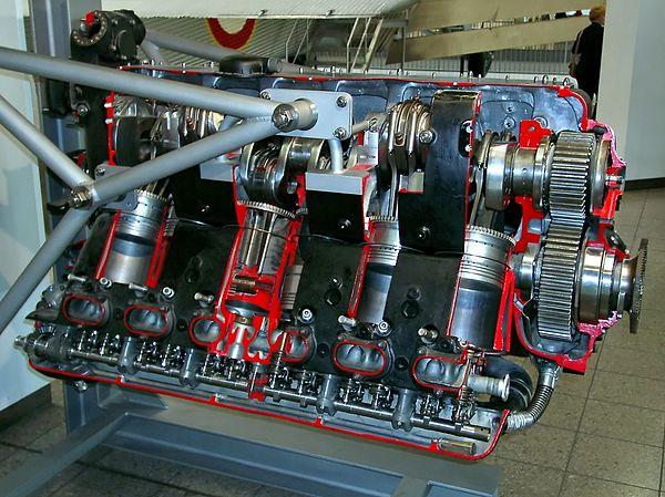 Inverted Aircraft Piston Engines