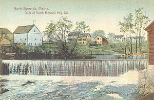 North Berwick, Maine - Dam on the Great Works River c. 1910