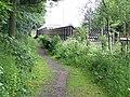 Dandy platform at Brampton station - geograph.org.uk - 1343286.jpg