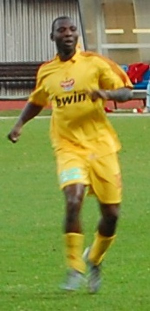 Dani Chigou - Chigou playing for FK Dukla Prague in 2011