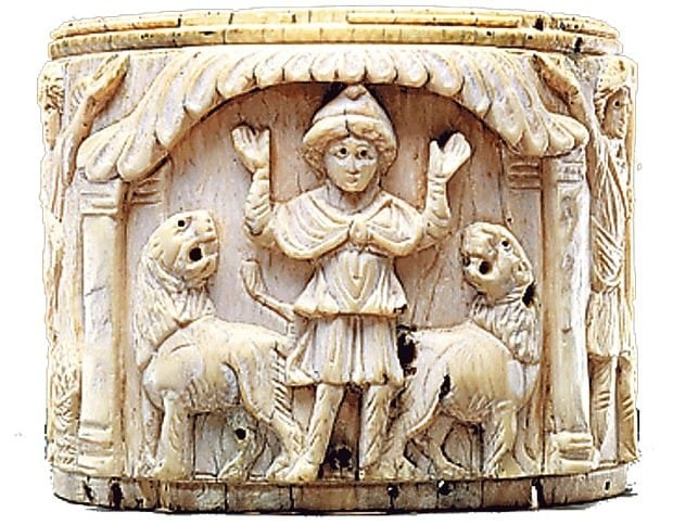 Daniel lions Egypte 6th century British Museum