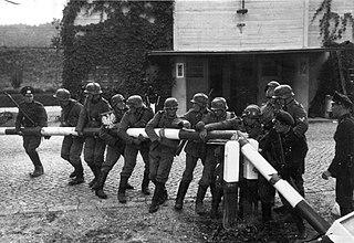 La Wehrmacht cruzando la frontera polaca el 1 de septiembre de 1939.