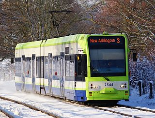 Bombardier CR4000 Type of rolling stock used on Tramlink